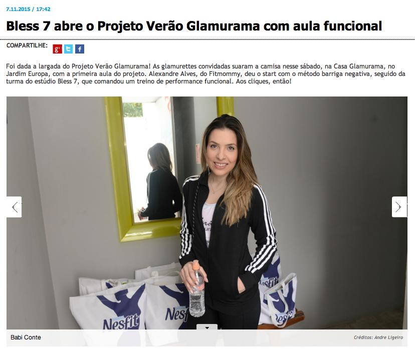 Projeto verão Glamurama - Blog Fit Food Ideas