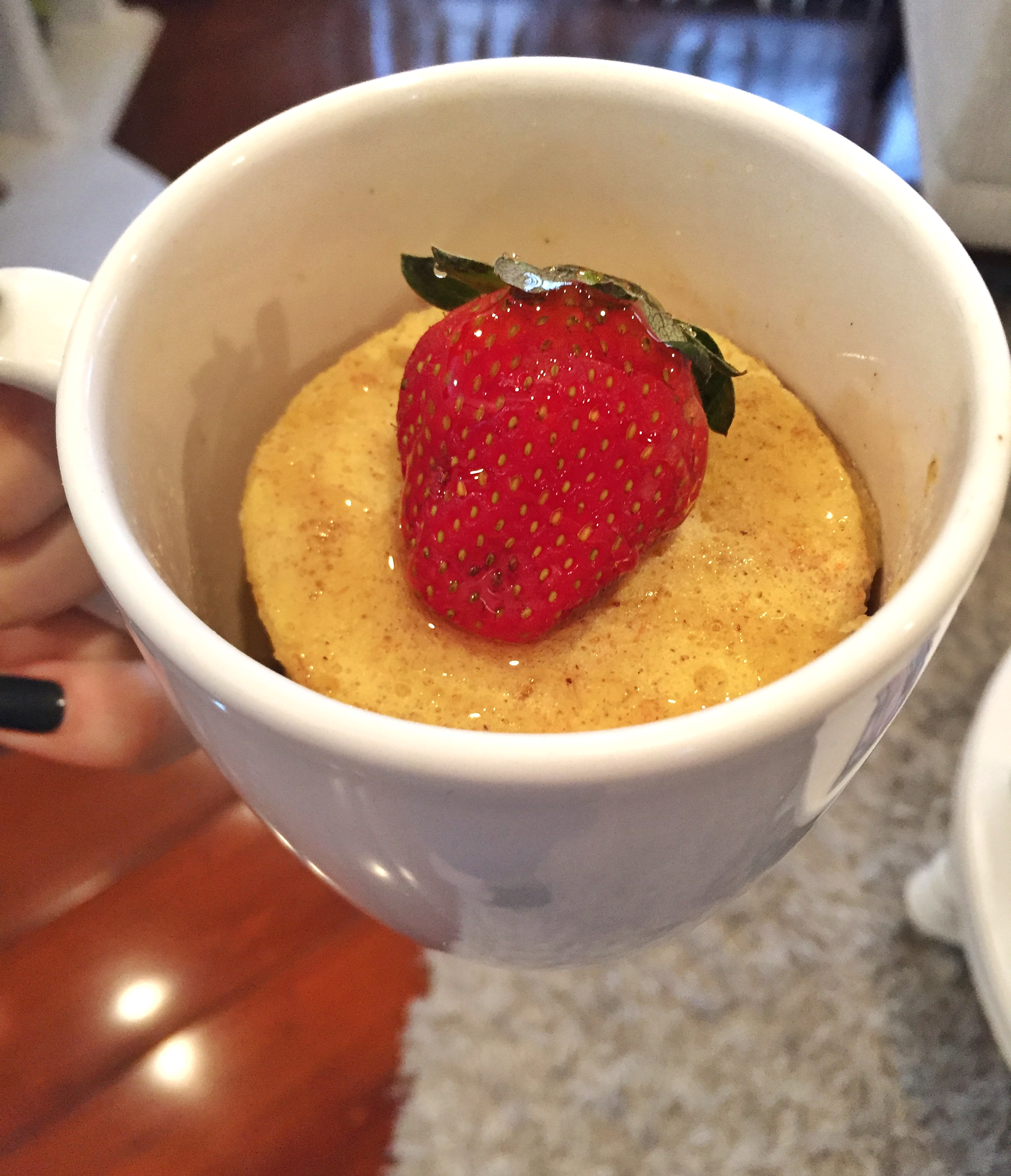 Bolo de Caneca: Fubá - Blog Fit Food Ideas