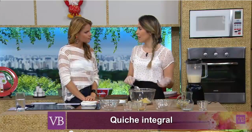 Quiche Integral - Programa Você Bonita - TV Gazeta