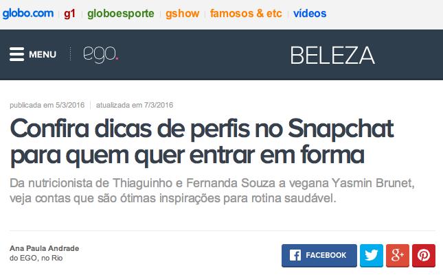 EGO - Globo.com